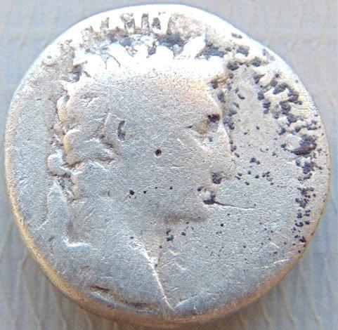 Moeda Romana Raro Denário de Augusto Império romano Augusto (27 aC-14 DC)