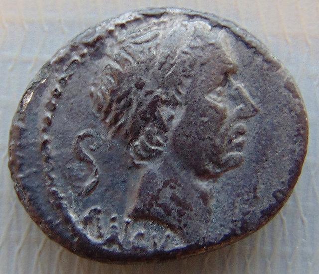 Moeda Romana Denário Republicano Marcius Philippus, Roma, 57 aC