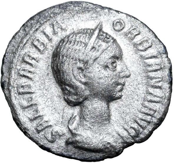 Moeda RARA de Sallustia Orbiana (esposa de Severus Alexander), Roma, 225 dC