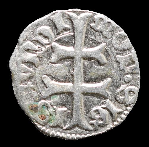 Moeda medieval da Hungria Denário de Sigismund (1387-1437)