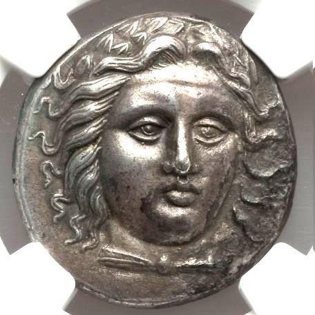 Moeda Grega Rara Tetradracma Satrapia de Caria - Hidrieus (ca. 351-344 aC).