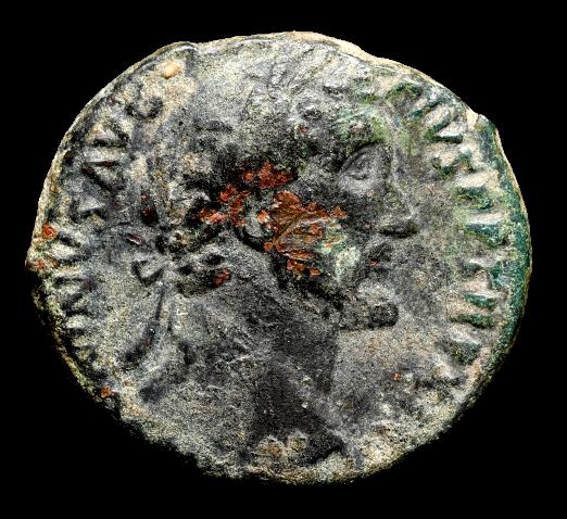 Moeda Romana Ae As de Antoninus Pius (138-161dC)