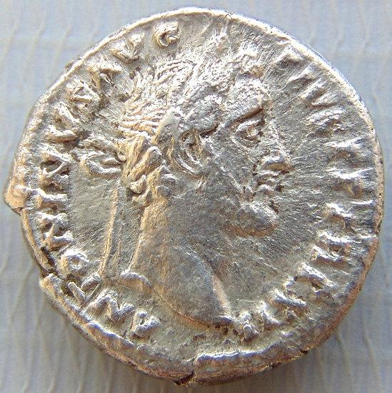 Moeda Romana Denário ANTONINUS PIUS 138-161 dC