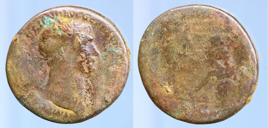 Moeda Romana: Trajan, AD 98-117. AE Sestertius minted at Rome, AD 103-111.