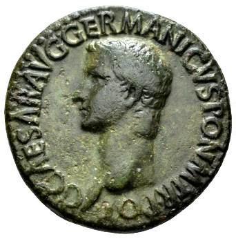 Moeda Escassa de Gaius Calígula 37-41 dC