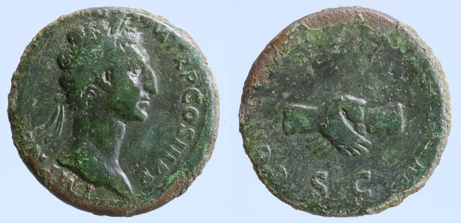 Nerva Æ As. Rome, AD 97.