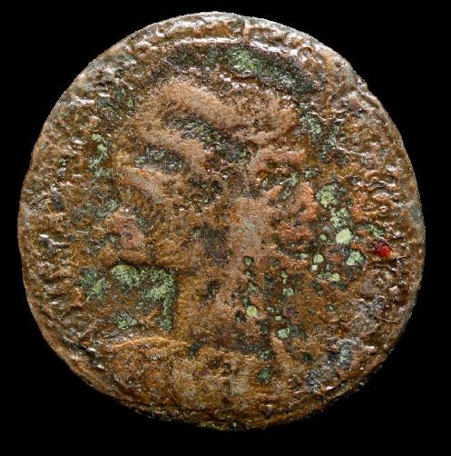 Moeda Romana Escassa de Fausta (324-325 dC) AE follis -