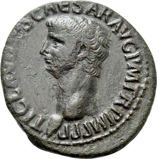 Moeda romana de Cláudio (41-54). As. Roma.
