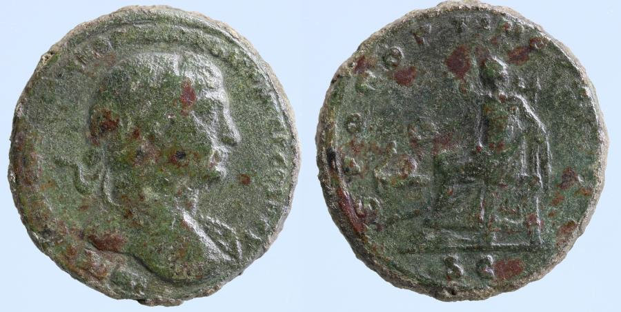 Moeda Romana:Trajan. A.D. 98-117. AE As. Rome mint