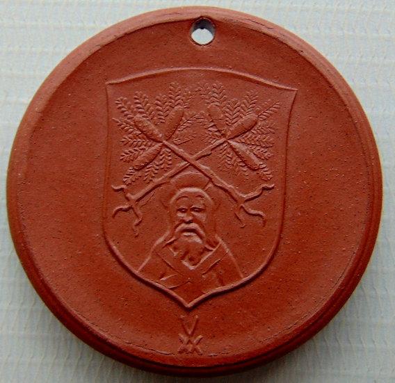 Medalha de porcelana (1968). Comemorativa 750 anos Saxônia