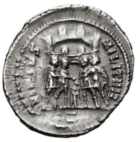 Moeda Romana Escassa Argenteus de Constantius I como César (293-305 dC).