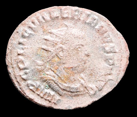 Moeda Romana Antoniniano de Valerian I (253-260 dC)