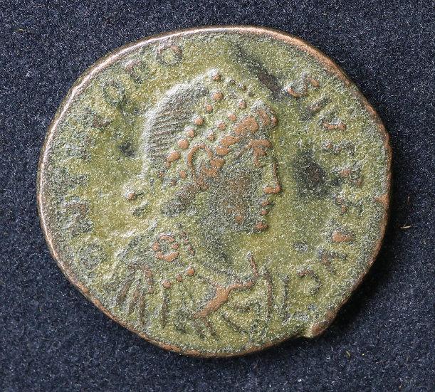 Moeda romana de Teodósio I - 378-388 dC