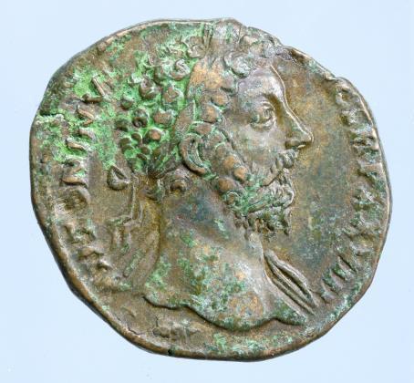 Moeda Romana Marcus Aurelius, 161-180. Sestertius