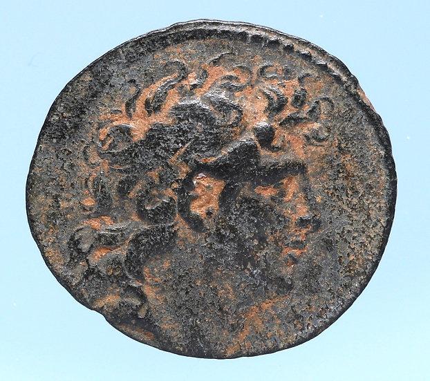 Moeda Grega Selêucida de Tryphon (142-138 aC).