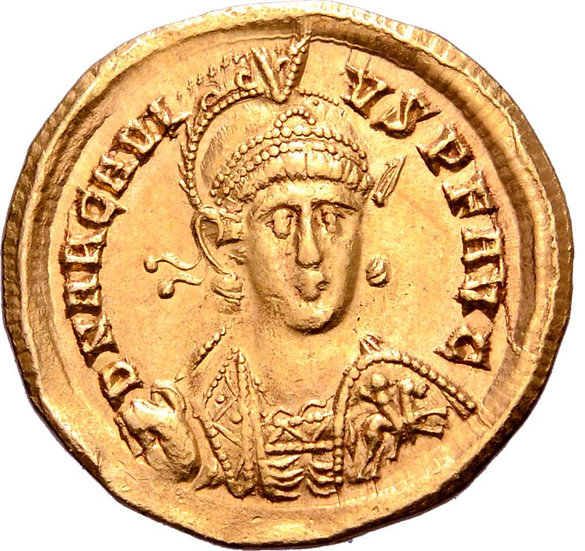 Moeda Romana Arcadius AV Solidus 393-395 dC