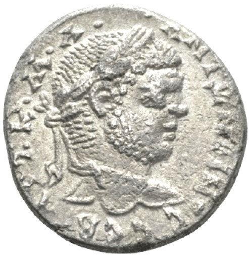 Moeda Provincial Romana Tetradracma de Caracalla (198-217 dC).