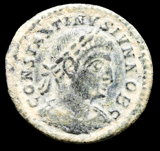 Moeda Romana de Constantino II (316-337 dC).