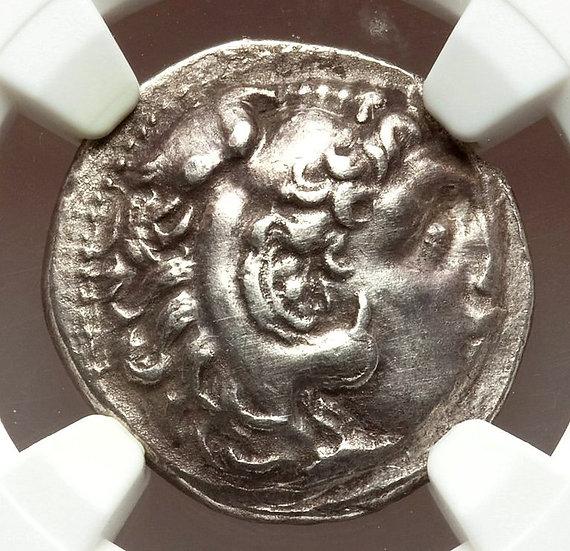 Moeda Grega Dracma de Alexandre III O Grande (336-323 aC) Certificado NGC