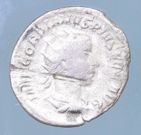 Moeda Romana de Gordian III (243-244 dC).
