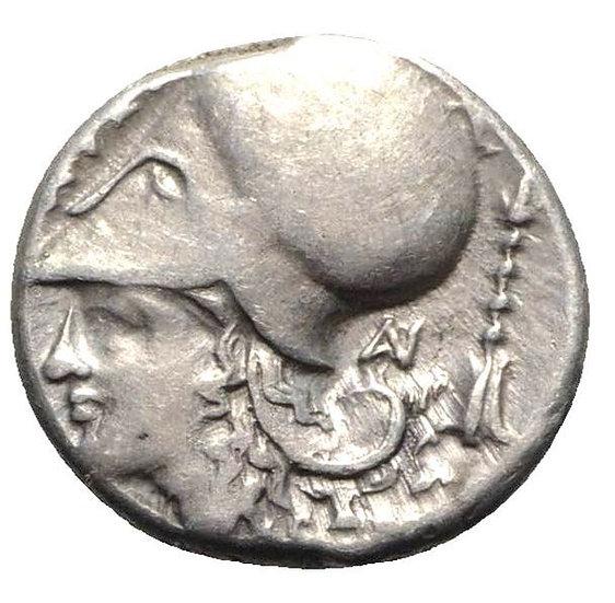 Moeda Grega Escassa Stater da Akarnania, Anaktorion (c. 350-300 aC).