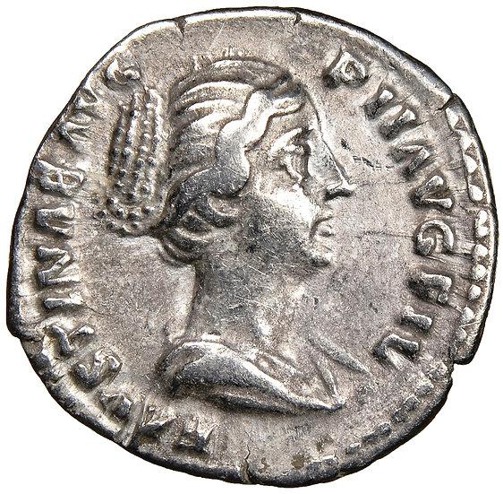 Moeda Romana Denário de Faustina Junior (147-175 / 6 dC)