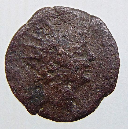 Moeda grega de Antiochus VIII 121-96 aC.