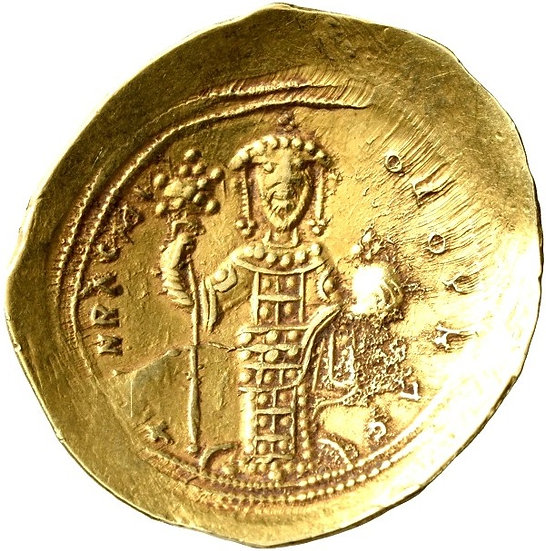 Moeda Bizantina de Constantine X Ducas, 1059-1067.