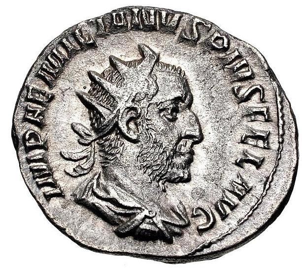 Moeda Romana de Aemilian 253 dC.