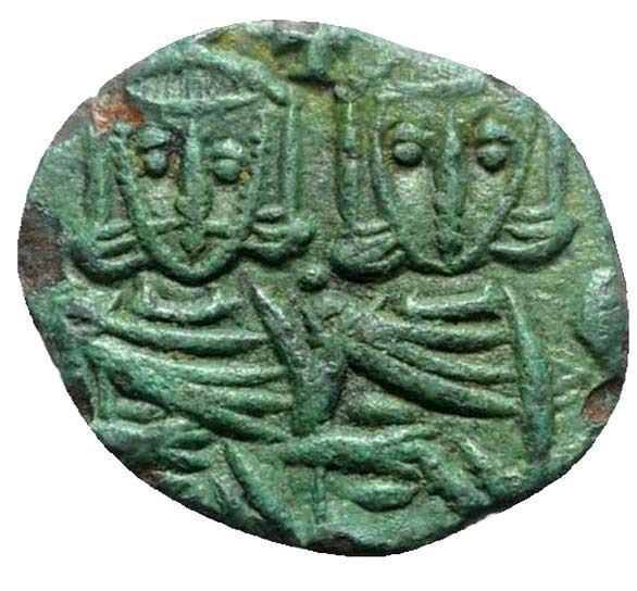 Moeda Bizantina Escassa de Constantino V (741-775).
