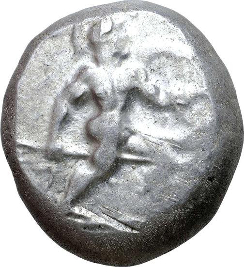 Moeda Grega Stater de Prata da Panfília (460-420 aC)