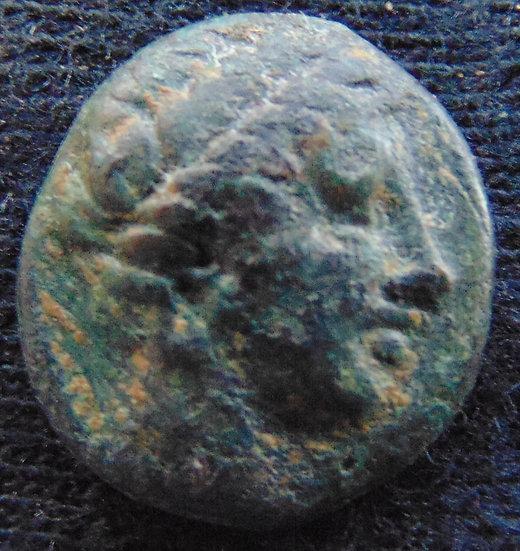 Moeda Grega Liga Chalkidiana da Macedonia Apollo