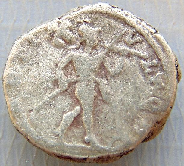 Moeda Romana Denário de Caracalla 198-217dC