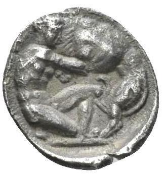 Moeda Grega Diobol da Calabria, Tarentum (325-280)