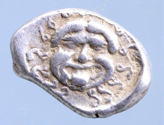 Moeda Grega Thrace, Apollonia Pontica AR Drachm. Circa 5th-4th century BC.
