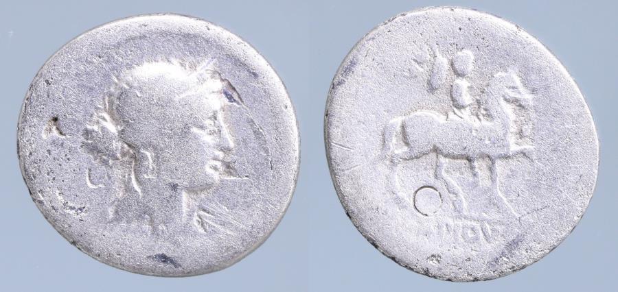Moeda Romana: M. Lepidus. Denarius 61