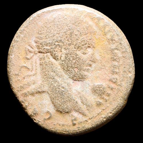 Moeda Romana Escassa Tetradracma de Elagabalus (218 dC).