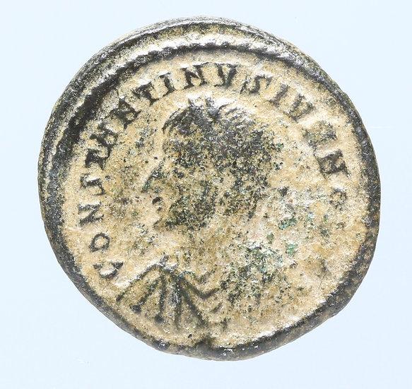 Moeda Romana de Constantino II como César 325-326