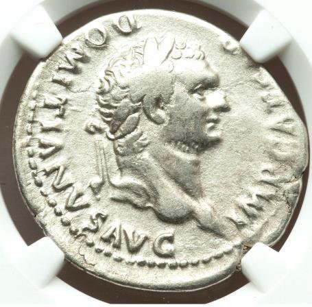 Domitian, as Augustus (AD 81-96). AR cistophorus (27mm, 10.24 gm, 6h). NGC VF 4/