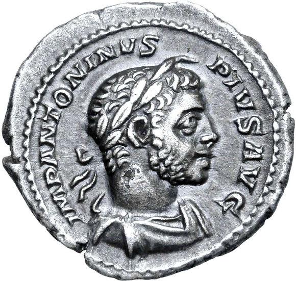 Moeda Escassa Denário de Elagabalus, Rome, 220-221 dC
