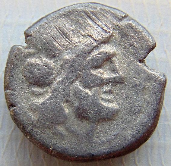 Moeda Romana RARA Vitoriatus Anônimo 211-208aC