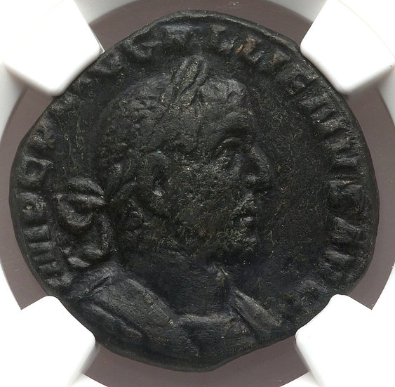 Moeda Romana RARA Sestércio de Gallienus (253-268 dC) Cert NGC