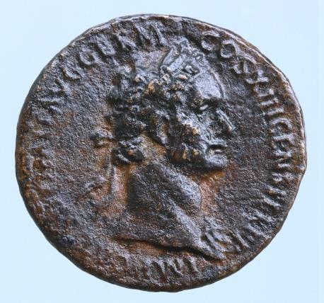Moeda Romana DOMITIAN, A.D. 81-96. AE As, Rome Mint,