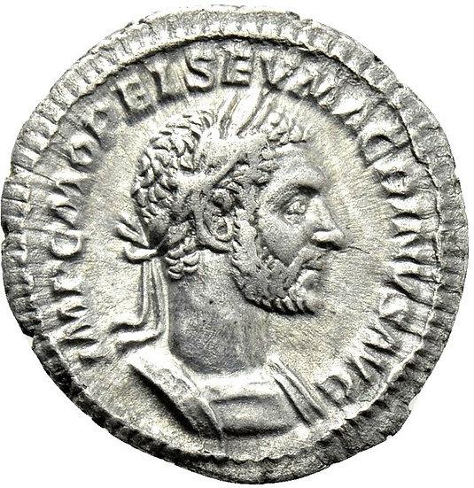 Moeda Romana Escassa de Macrinus (217-218).