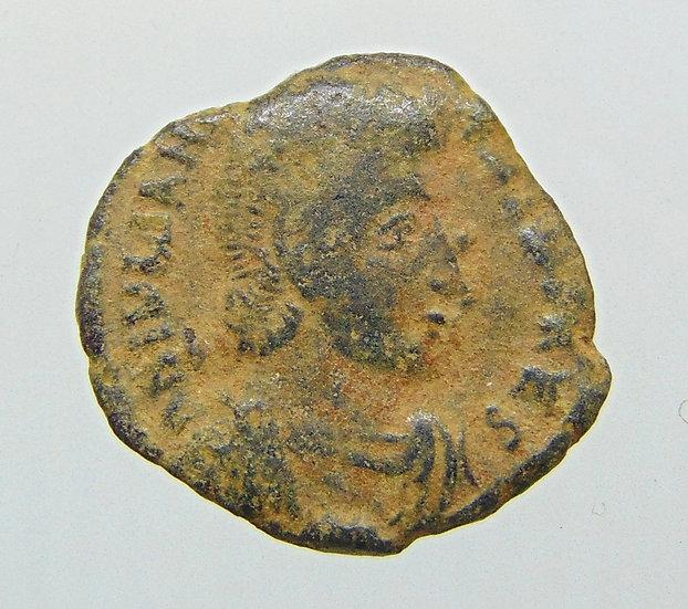 Moeda Romana escassa AE3 de Juliano II 353-354 Dc