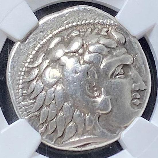 Moeda Grega Rara de Ptolomeu I Soter como sátrapa do Egito (323-305 aC). Encapsu