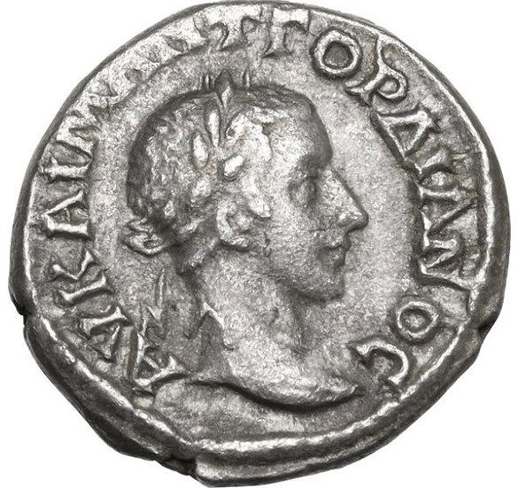 Moeda Romana Provincial Dracma de Gordian III (238-244 dC).