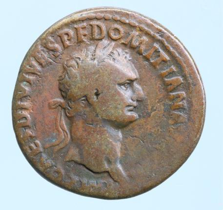 Moeda Romana Domitian. A.D. 81-96. AE as . Rome mint, struck A.D. 82. IMP CAES D