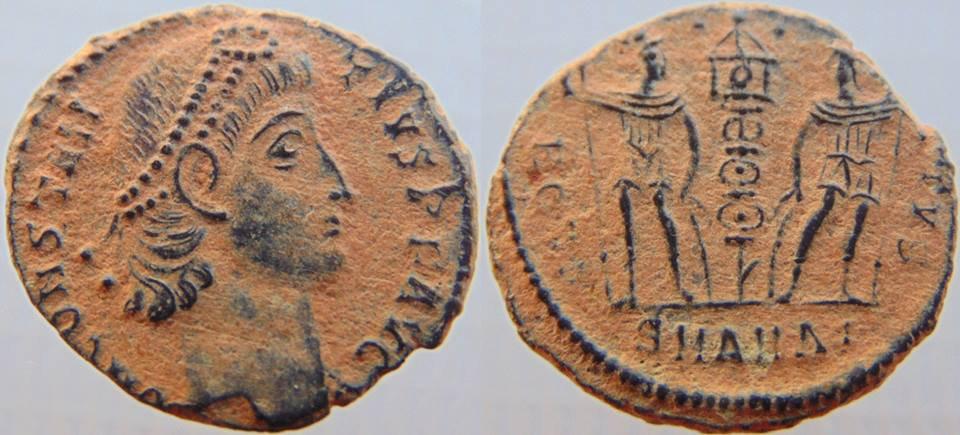 Constâncio II Æ Nummus. Antióquia, 330-335 dC.