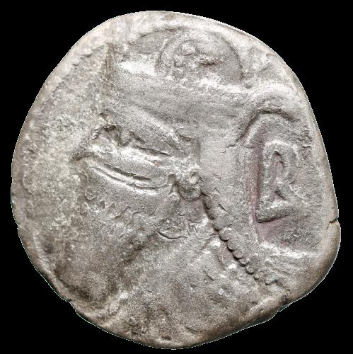 Moeda tetradracma de Prata da Pártia, Vologases IV (147-191 dC).